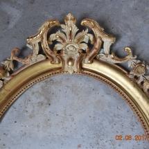 Miroir Napoléon III, Style Perles et Rocailles
